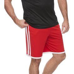 Big & Tall Tek Gear® Varsity Basketball Shorts ($18) ❤ liked on Polyvore featuring men's fashion, men's clothing, men's activewear, men's activewear shorts, med red, mens big and tall activewear and mens activewear shorts