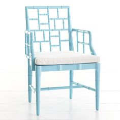 Chippendale chair in turquoise