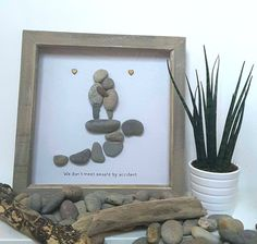 Pebble art, Friendship gift, friend present, best friend gift, couple gift, Personalised Art, anniversary gift, thank you gift, Wedding art by CoastalPebblesShop on Etsy