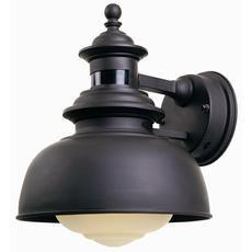 1-Light Outdoor Wall Lantern with Motion Sensor, Bronze Finish
