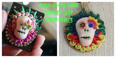 Glow In the Dark Polymer Clay Sugar Skulls (Calaveras) for Day of the Dead