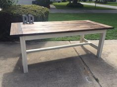 7ft Simple Farmhouse Table by DanowitDesigns on Etsy