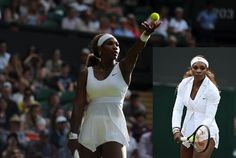 Serena Williams in her Lawn Novelty Knit Dress at Wimbledon 2014 http://www.womenstennisblog.com/2014/06/30/wimbledon/