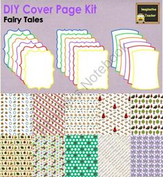 DIY Cover Page Kit - Fairy Tales from ClipArt_Lady on TeachersNotebook.com -  (28 pages)  - Have you ever made a fantastic resource that other teachers would love and appreciate but have no idea how to put together a cover page? Teachers first buy with their eyes so here�s where to start!