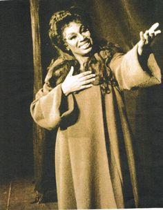 """Leontyne Price as Leonora during curtain call of """"La Forza del Destino"""" at San Francisco Opera"""