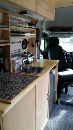 Added Swivel Seats Everything We Need For Cooking Sprinter ConversionConversion VanVan Conversions