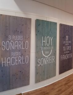 Tableros para entrar con buen rollo a la clinica dental. www.dentalmar.es