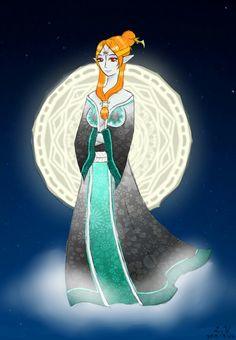Happy Mid-autumn festival~\(≧▽≦)/~! Here's Midna in a Hanfu kinda...thing inspired from her original clothes. Sry if it seems random(´・ω・`)【which it is