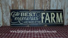 ::: Hand painted Sign on Pine Board Available in Black With Antique White and Barn Red with Hay Stack (faint yellow) lettering edges sanded & stained Measures 5 x Key hole hanger on back . Barn Wood Projects, Vinyl Projects, Pallet Art, Pallet Signs, Painted Signs, Wooden Signs, Hand Painted, Farm Signs, Cute Signs