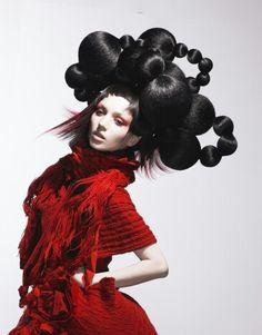 Hair Show Ideas from Keshini Hair: Fancy Hairstyles, Creative Hairstyles, Wig Hairstyles, Crazy Hair, Big Hair, Hair And Makeup Artist, Hair Makeup, High Fashion Hair, Avant Garde Hair