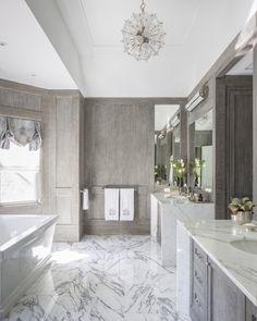 grey bathroom, marble, lights,