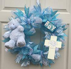 Baby Wreath Baby Shower Wreath Hospital by WelcomeHomeCreative