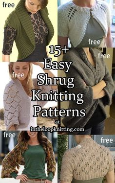 These shrugs are knit in one or two pieces. Many of them are one knit as one rectangle and then seamed to create the armholes. No shaping, little seaming. These are great projects for beginners or …