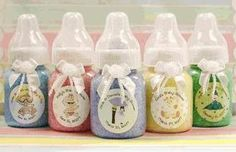 Baby Shower Favors....bath salts in baby bottles