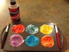 You can buy the bath crayons and bath tub finger paints, but I have seen the shaving cream bath tub paint all over pinterest and HAD to try it out myself! I used the same white barbasol shaving cre...