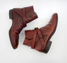 Vintage boots / 70s Fratelli Rossetti mens ankle low riding boots / size 10 mens. $460.00, via Etsy.