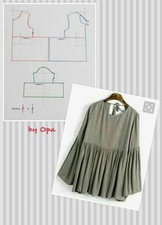 Amazing Sewing Patterns Clone Your Clothes Ideas. Enchanting Sewing Patterns Clone Your Clothes Ideas. Dress Sewing Patterns, Blouse Patterns, Clothing Patterns, Fashion Sewing, Diy Fashion, Sewing Hacks, Sewing Tutorials, Costura Fashion, Fashion Pattern