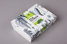 Packaging for bar and restaurant Vila Florida with botanical illustrative detail designed by Lo Siento
