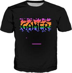 Retro Gamer Pixelated Classic T-Shirt https://www.rageon.com/products/retro-gamer-pixelated-classic-t-shirt?s=ios&aff=BMl0 Made with #RageOn shirt