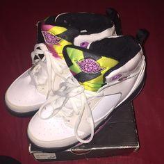 Jordan 60 + white , rose and black Jordan's ( 60+) in a youth size 3. Jordan Shoes Sneakers