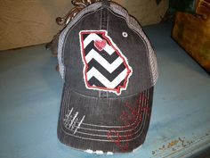 University of Georgia Bulldogs State Hat by Chasing Elly on Etsy - I'll take one asap please!