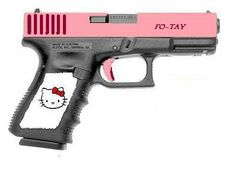 HELLO KITTY PISTOL | The gun will come with matching pink case, pink belt-slide holster and ...