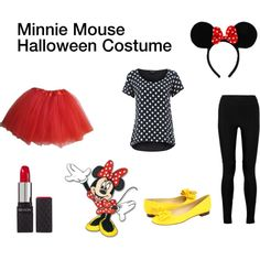 """minnie mouse halloween costume //// little less """"costumey"""" costume for halloween for a teen girl or a mumma whose boy likes Mickey and Minne, perhaps?! ;)"""