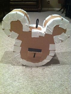 A Disney Mom's Thoughts: Mickey Mouse Pull String Pinata Tutorial | A Disney Mom's Thoughts