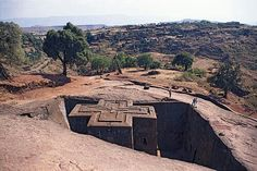 1 of 11 churches in Ethiopia carved out of the rock from top to bottom and from the inside out!!!!!