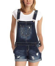 Another great find on #zulily! WallFlower Jeans Dark Wash Camila Denim Overall Shorts by WallFlower Jeans #zulilyfinds