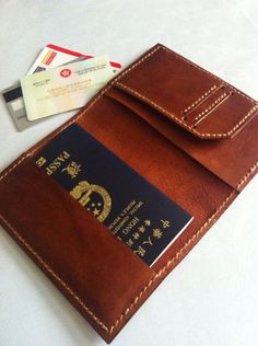 Inscription Truth Word Leather Passport Holder Cover Case Travel One Pocket