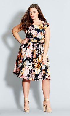 Dress for the J & G Wedding ?// City Chic - ANITIQUE GARDEN DRESS - Women's Plus Size Fashion