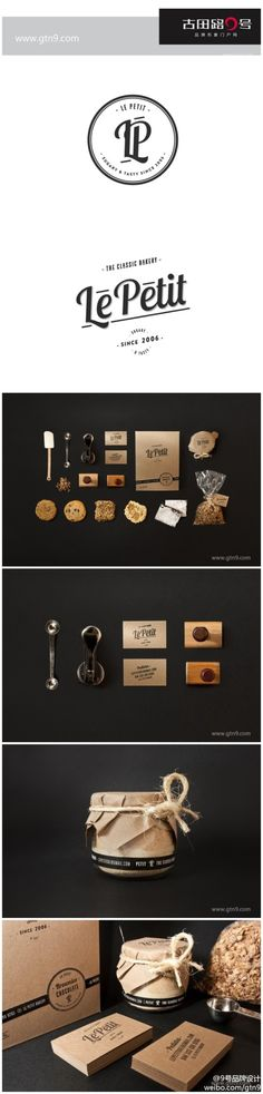 the whole concept from logo to packaging, just beautiful!  Le Petit Bakery packaging 面包