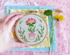 ♥ Special discounts for the Holiday Season!! ♥ Receive 10% discount for orders above $50, Coupon code - HOLIDAYSEASON01A Receive 15% discount for orders above $60, Coupon code - HOLIDAYSEASON01B ---------------------------------------------- Flowerpot Embroidery design is a Do It