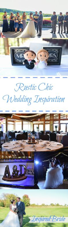 Cute and Beautiful Rustic Chic Inspired Wedding - Inspired Bride