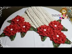 Passo a Passo CAMINHO DE MESA FLORENZA COM A FLOR MARLENE - Pink Artes Croche by Rosana Recchia - YouTube