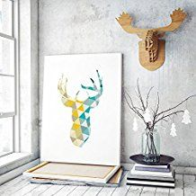 """The Art & Wood - Cuadro infantil. Lienzo """"ciervo"""" decoración hogar y habitación infantil. Estilo kids."""