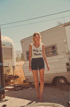 Caravan and country in background :)