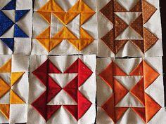 3-D quilt blocks