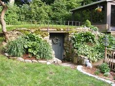 root cellar design | Root Cellar that is also a storm shelter.