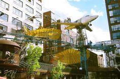 This Playground Looks Crazy Fun. MonstroCity is an interactive sculpture/playground located in Missouri, United States. Oh The Places You'll Go, Great Places, Places To Visit, St Louis City Museum, Cool Playgrounds, St Louis Mo, Outdoor Playground, Playground Design, Missouri