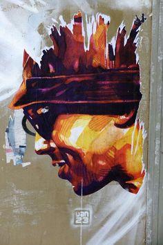 Dan 23 - street art - Paris 13 - rue keufer