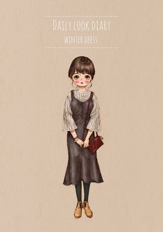 Daily look diary - Winter Dress by 애뽈 on