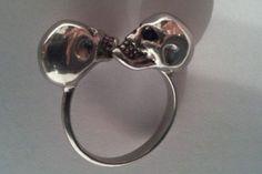 Alexander McQueen skull ring - http://designerjewelrygalleria.com/alexander-mcqueen/alexander-mcqueen-skull-ring-2/