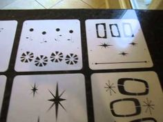 First look at my new Mid-Century Modern inspired line of stencils. Available at istencils.com