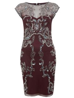 Winter wedding guest outfit: The embellished dress