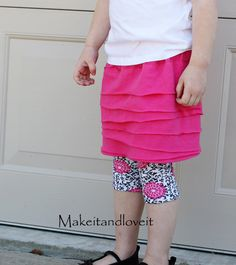 Girl's Knit Layered Skirt | Make It and Love It