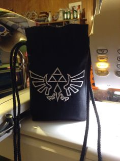 I made this drawstring Dice Bag for my oldest daughter's roommate using my embroidery machine and Moda Bella Solids in Black. Dice Bag, Roommate, Gifts For Family, Drawstring Backpack, Machine Embroidery, Bags, Handbags, Bag, College Roommate