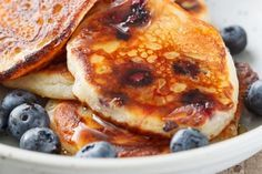 Blueberry Pancakes With Fresh Blueberry Syrup | Zero Belly Diet