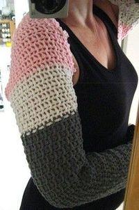Crochet scarf - sleeves (free crochet pattern)